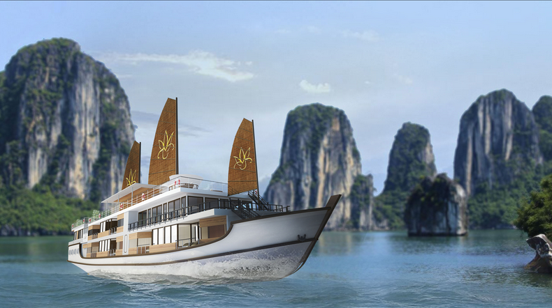 HOT LUXURY PACKAGE 4 DAYS/3NIGHTS WITH ORCHID CRUISE (Halong Bay – Bai Tu Long Bay – Lan Ha Bay)